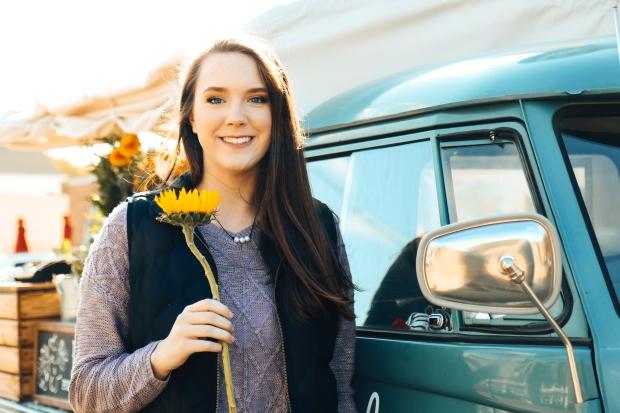 Lydia Yonce Senior - Flower Truck-1
